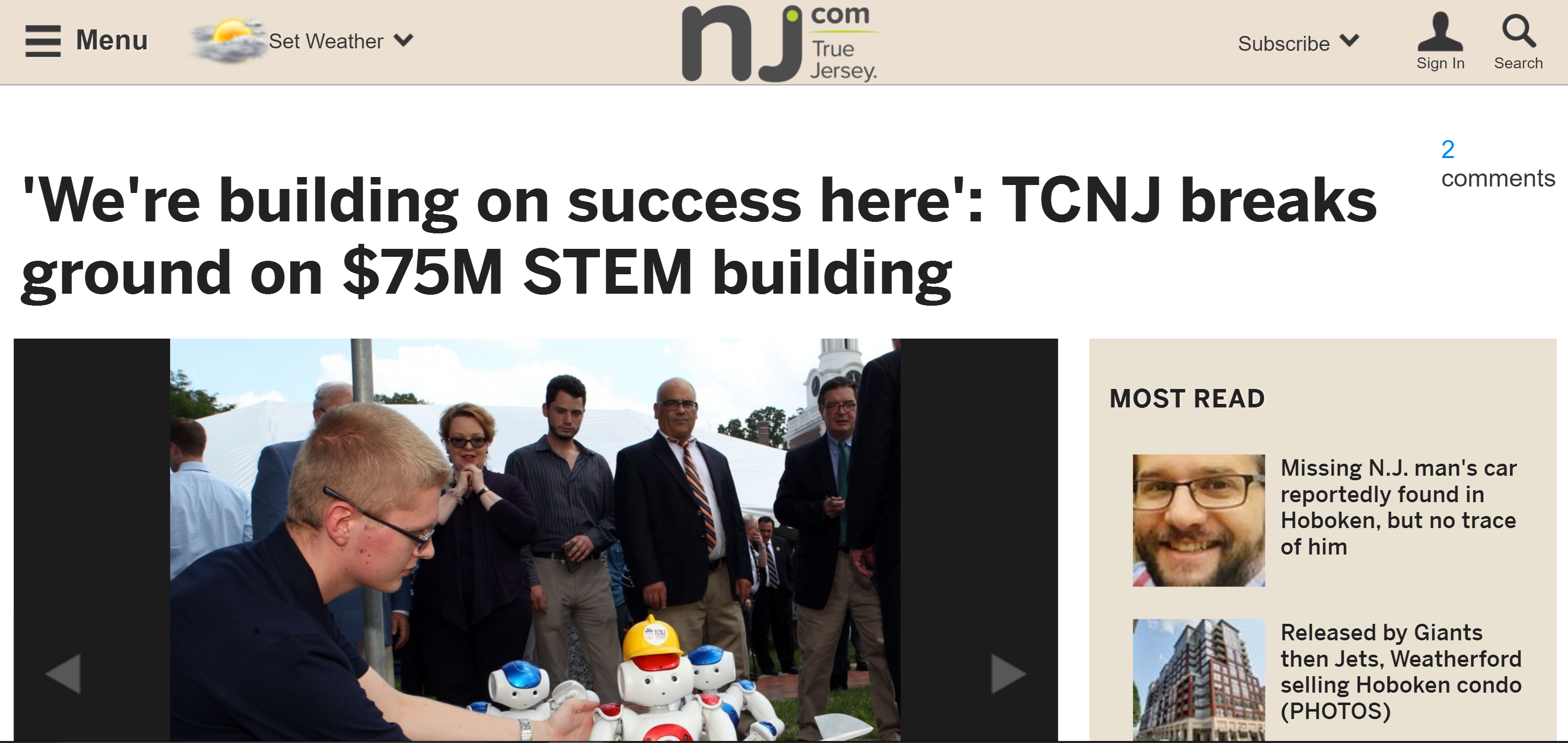 'We're building on success here': TCNJ breaks ground on $75M STEM building