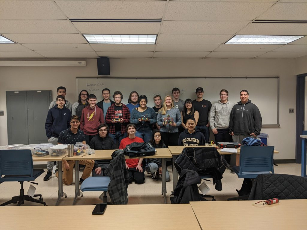 Picture of the robotics club in spring 2020